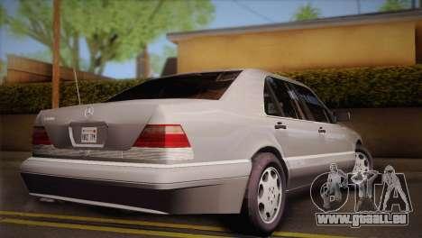 Mercedes-Benz S600 V12 Custom pour GTA San Andreas laissé vue
