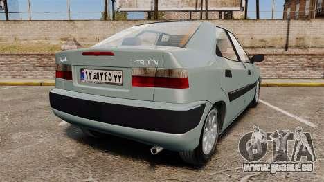 Citroen Xantia 1999 für GTA 4 hinten links Ansicht