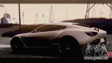Aston Martin V12 Zagato 2012 [IVF] pour GTA San Andreas vue de droite