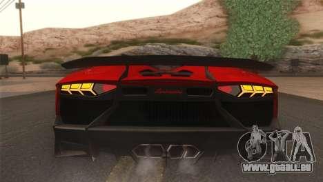 Lamborghini Aventador J 2012 v1.0 pour GTA San Andreas vue arrière