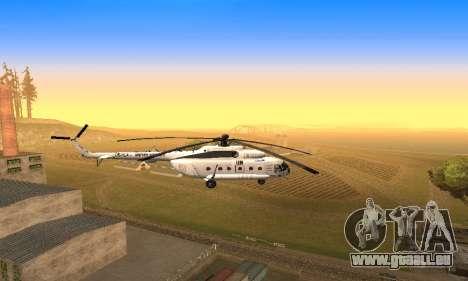 MI 8 des Nations Unies (ONU) pour GTA San Andreas vue arrière