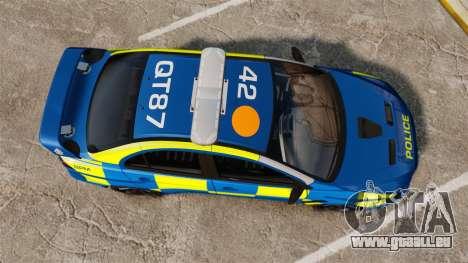 Mitsubishi Lancer Evo X Humberside Police [ELS] pour GTA 4 est un droit