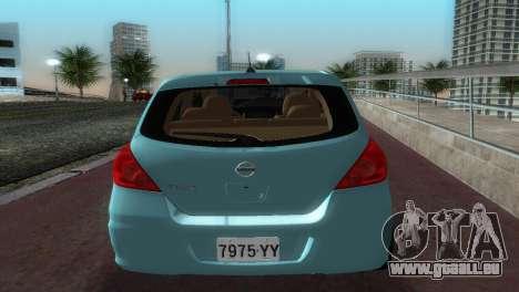 Nissan Tiida für GTA Vice City rechten Ansicht