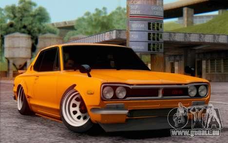 Nissan Skyline 2000GTR pour GTA San Andreas