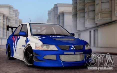 Mitsubishi Lancer Evolution IIIX für GTA San Andreas Innenansicht
