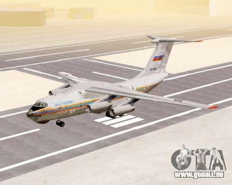Il-76td EMERCOM de Russie pour GTA San Andreas laissé vue