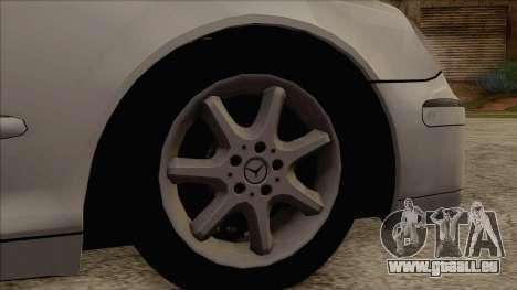 Mercedes-Benz W220 S500 4matic für GTA San Andreas zurück linke Ansicht