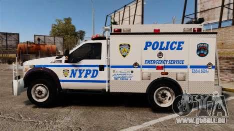 Ford F-550 2012 NYPD [ELS] für GTA 4 linke Ansicht