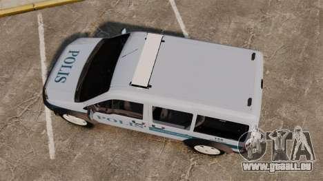 Ford Transit Connect Turkish Police [ELS] für GTA 4 rechte Ansicht