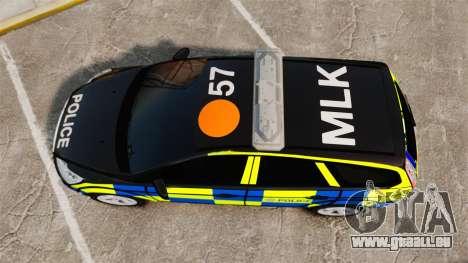 Ford Focus Estate 2009 Police England [ELS] pour GTA 4 est un droit