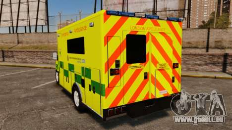 Mercedes-Benz Sprinter [ELS] London Ambulance pour GTA 4 Vue arrière de la gauche