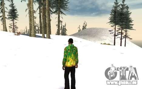 Veste de Sochi 2014 pour GTA San Andreas deuxième écran