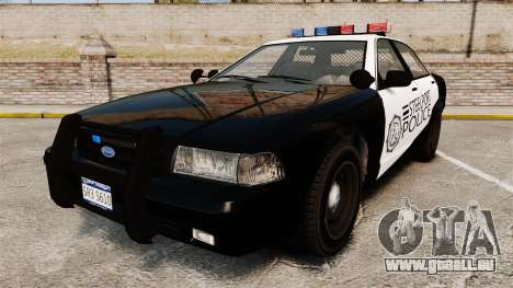 GTA V Vapid Steelport Police Cruiser [ELS] für GTA 4
