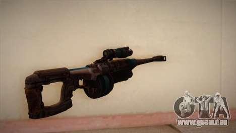 Fusil de sniper de Bulletstorm pour GTA San Andreas deuxième écran