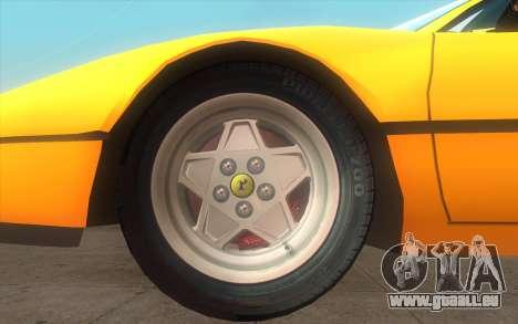 Ferrari 328 GTB pour GTA San Andreas sur la vue arrière gauche