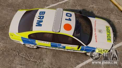 Skoda Superb 2006 Police [ELS] Whelen Justice für GTA 4 rechte Ansicht
