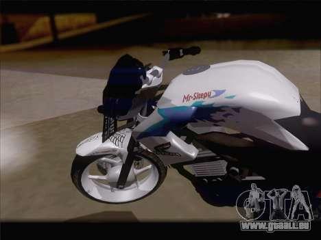 Honda CB150R StreetFire für GTA San Andreas rechten Ansicht