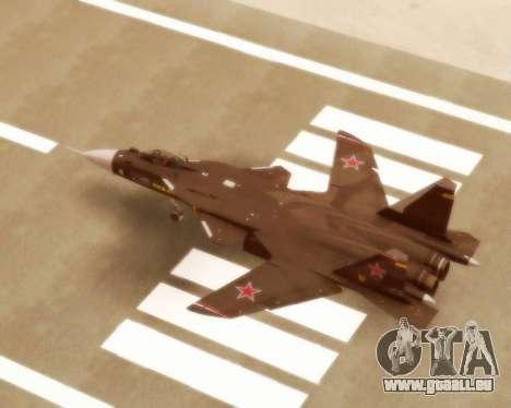 Su-47 Berkut v1.0 pour GTA San Andreas vue de droite
