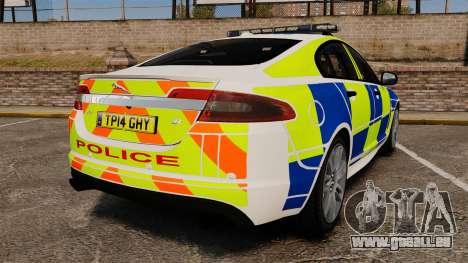 Jaguar XFR 2010 British Police [ELS] für GTA 4 hinten links Ansicht