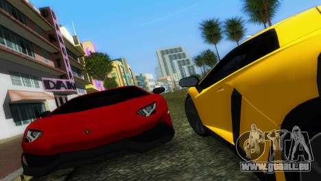 Lamborghini Aventador LP720-4 50th Anniversario für GTA Vice City Rückansicht