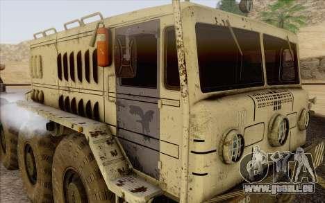 MAZ 535 blanc pour GTA San Andreas sur la vue arrière gauche