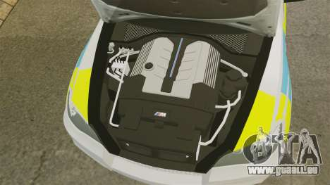 BMW X5 Police [ELS] pour GTA 4 est une vue de l'intérieur