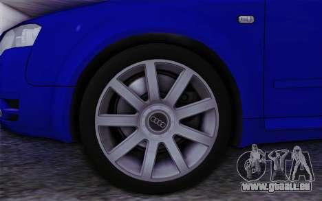 Audi A4 2005 Avant 3.2 Quattro Open Sky pour GTA San Andreas sur la vue arrière gauche