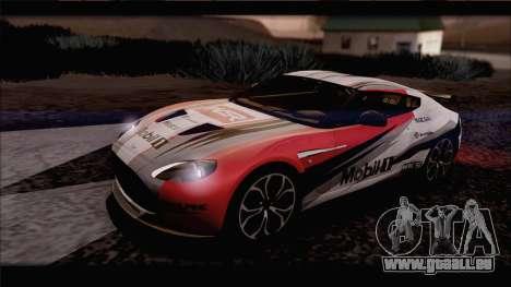 Aston Martin V12 Zagato 2012 [IVF] pour GTA San Andreas vue intérieure