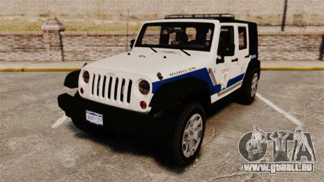 Jeep Wrangler Rubicon Police 2013 [ELS] pour GTA 4
