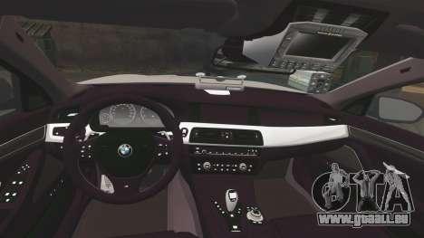 BMW M5 Marked Police [ELS] für GTA 4 Seitenansicht