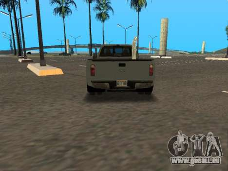 Ford F-350 für GTA San Andreas Innenansicht