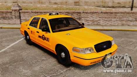 Ford Crown Victoria 1999 NYC Taxi pour GTA 4 est une vue de l'intérieur