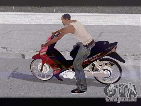 Yamaha Vega ZR für GTA San Andreas zurück linke Ansicht