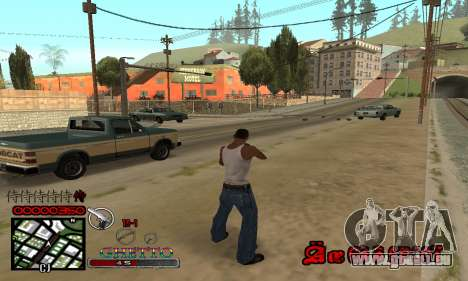 C-HUD Getto Jonka pour GTA San Andreas troisième écran