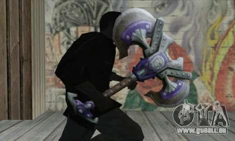 Hache de World of Warcraft pour GTA San Andreas troisième écran