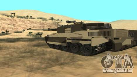 GTA V Rhino pour GTA San Andreas sur la vue arrière gauche