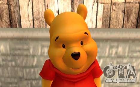 Winnie l'ourson pour GTA San Andreas troisième écran