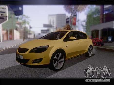 Opel Astra J 2011 pour GTA San Andreas sur la vue arrière gauche