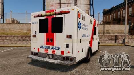 Brute B.C. Ambulance Service [ELS] pour GTA 4 Vue arrière de la gauche