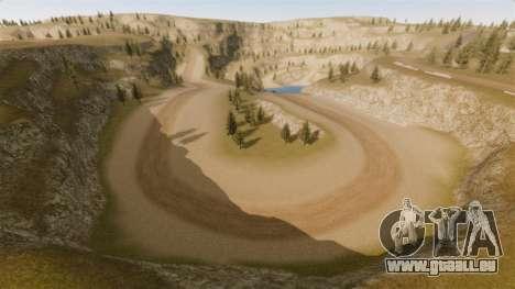 Cliffside emplacement Rallye pour GTA 4 troisième écran