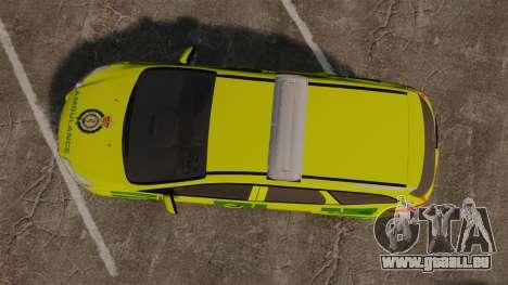 Ford Focus ST Estate 2012 [ELS] London Ambulance für GTA 4 rechte Ansicht