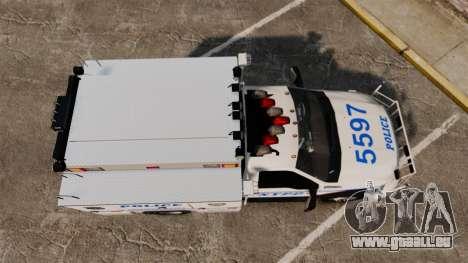 Ford F-550 2012 NYPD [ELS] für GTA 4 rechte Ansicht