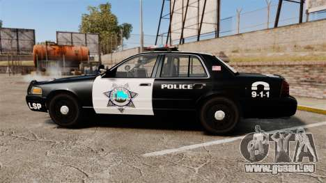 Ford Crown Victoria Liberty State Police pour GTA 4 est une gauche
