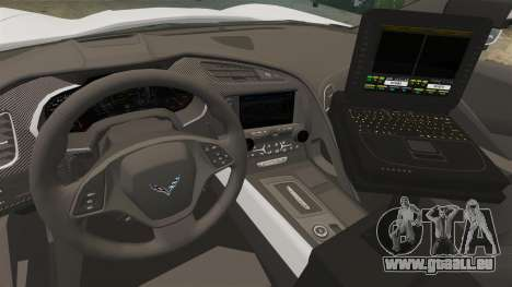 Chevrolet Corvette C7 Stingray 2014 Police für GTA 4 Rückansicht