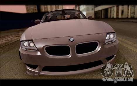 BMW Z4 Stance für GTA San Andreas Rückansicht