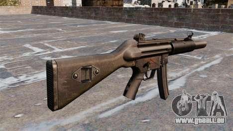 Pistolet mitrailleur HK MP5A5 pour GTA 4 secondes d'écran