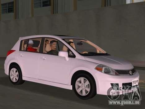Nissan Tiida pour une vue GTA Vice City d'en haut