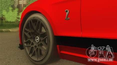 Ford Shelby GT500 2013 pour GTA San Andreas vue de droite