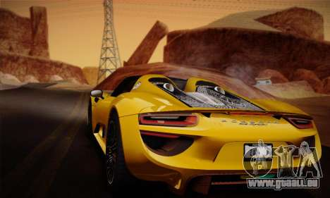 Porsche 918 Spyder 2014 für GTA San Andreas Innen