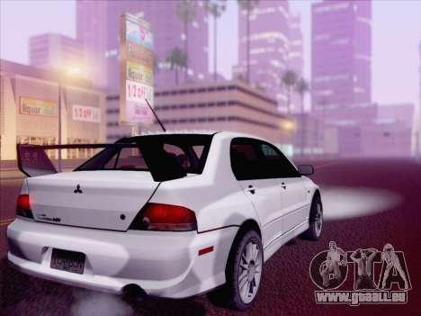 Mitsubishi Lancer Evo IX MR Edition für GTA San Andreas linke Ansicht